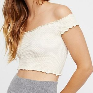 Intimately free people smocked crop top